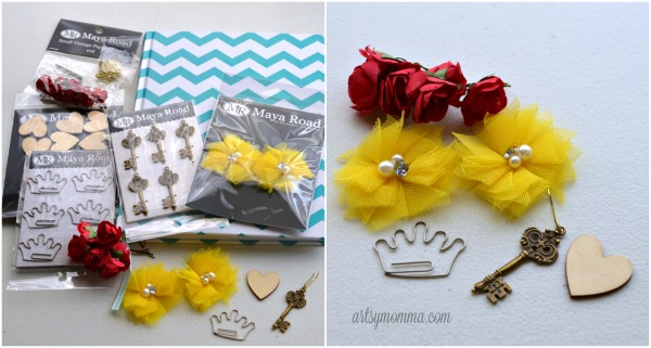 Crafting with Pretty Embellishments from Maya Road