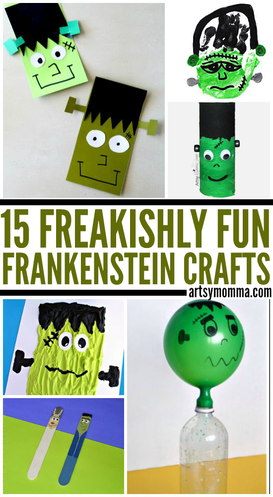 Collection of Fun Frankenstein Themed Crafts for Kids