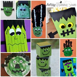 Frankenstein Crafts for Kids - Halloween Fun