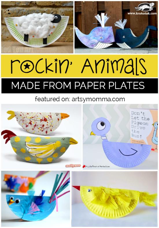 15+ Rockin' Paper Plate Animal Crafts