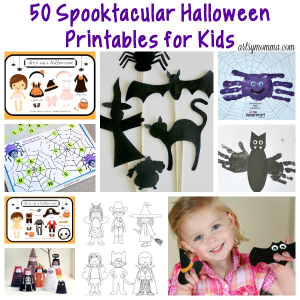 50 Spooktacular Halloween Printables for Kids