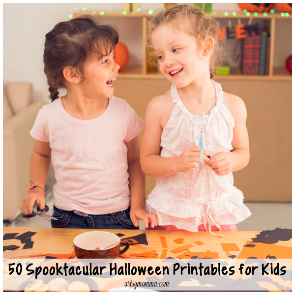 Halloween is almost here and we are excited to get dressed up and get some treats! But first, we have fun with all kinds of spooktacular Halloween printables!
