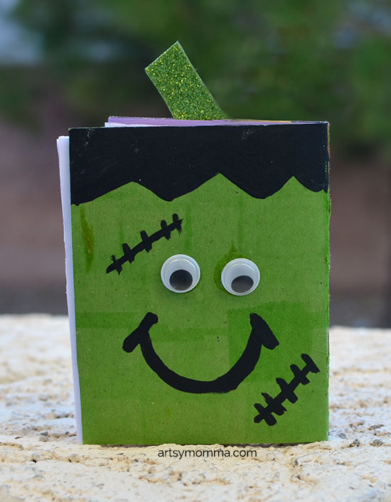 DIY Itty Bitty Frankenstein Book Tutorial