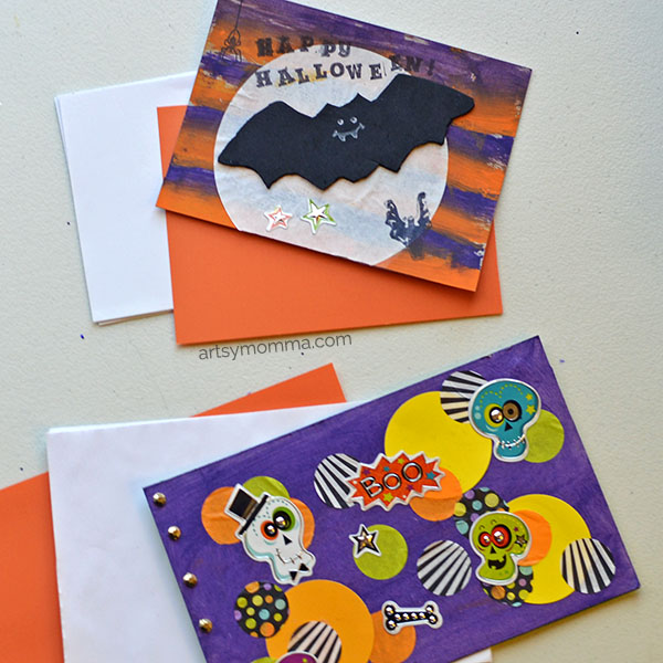 Happy Halloween Cereal Box Craft - Bat & Skeleton