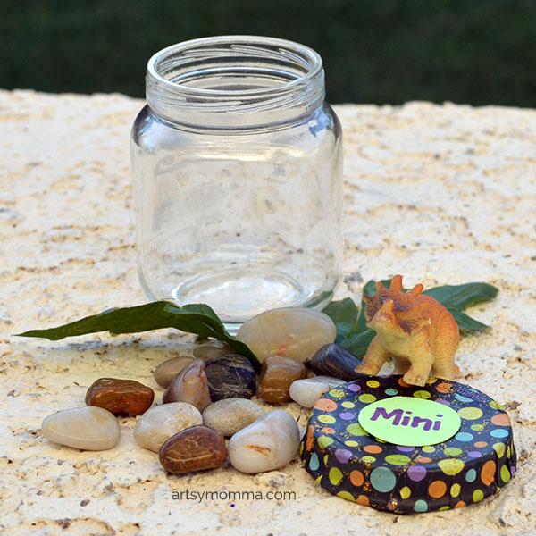Make a Mini Dinosaur Terrarium or Pet Dinos