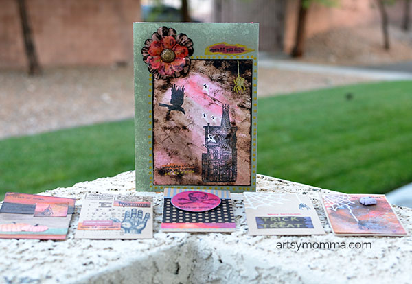 Distressed Halloween Favor Bags and Cards Craft Idea