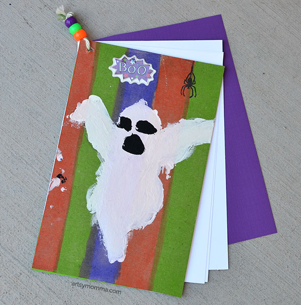 Ghost Book Tutorial using cookie cutter and cardboard