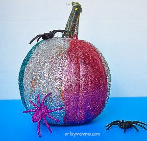 Creative Pumpkin Decorating Ideas: Sparkly Glitter Pumpkins