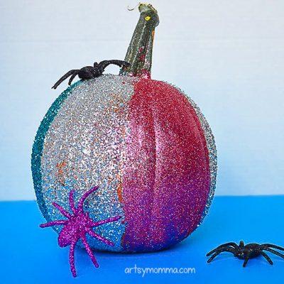 Creative Pumpkin Decorating Ideas: Sparkly Glitter Pumpkins