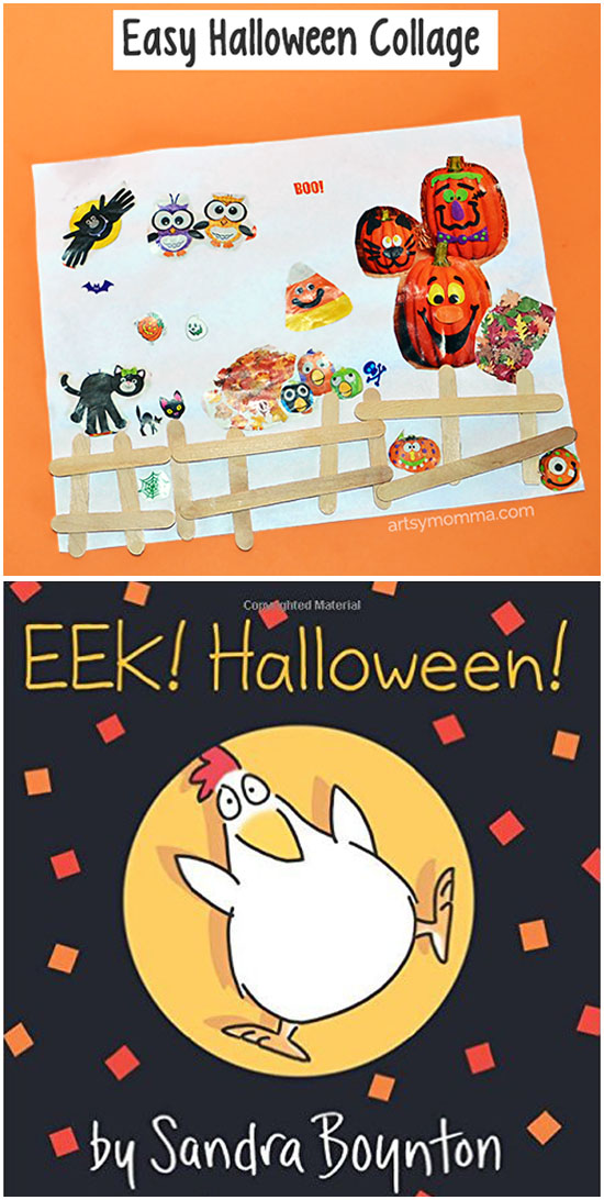 EEK! Halloween by Sandra Boynton & Halloween Collage for Preschoolers