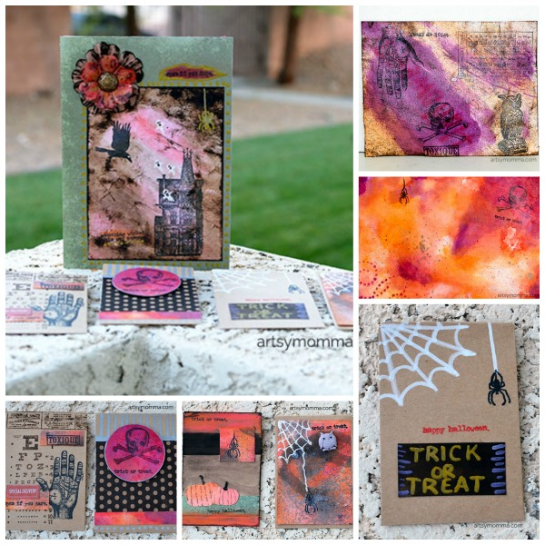 Distressed Halloween Favor Bags and Cards