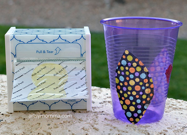 Owl Cup Craft using Xyron Sticker Maker