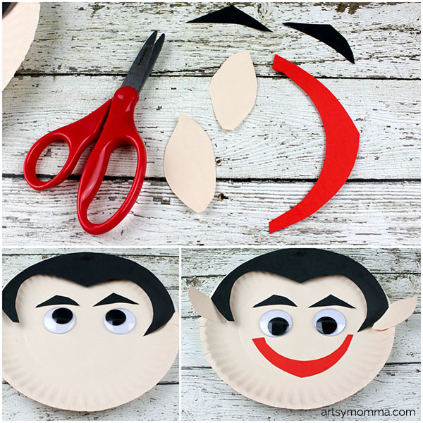 Darling Paper Plate Vampire Craft For Halloween Artsy Momma