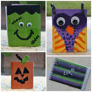 Spooky Cute Halloween Books made from Cereal Boxes!