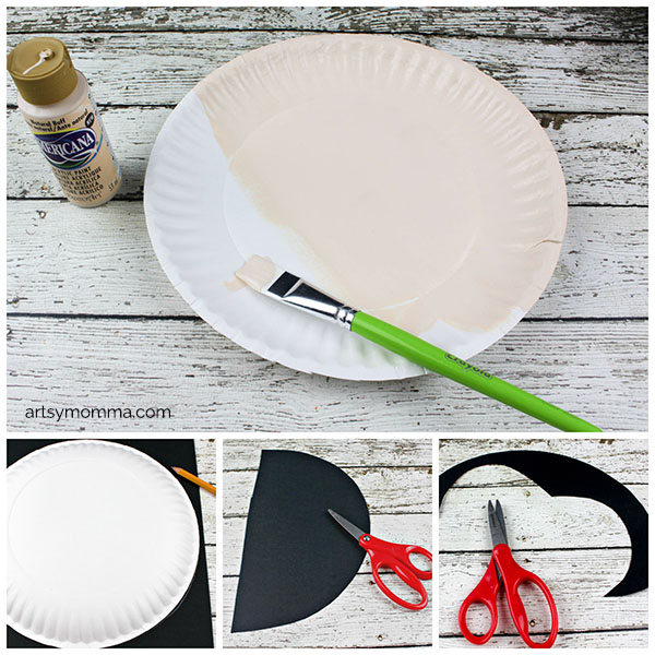 How to make a Vampire from a Paper Plate