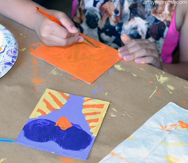 making-halloween-cardboard-craft-with-kids