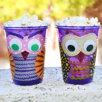 This DIY Owl Snack Cup is sure to be a hoot!