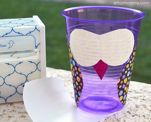Make an Owl from a Plastic Cup