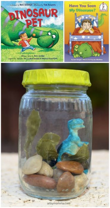 Pet Dinosaurs in a Jar Pretend Play Activity