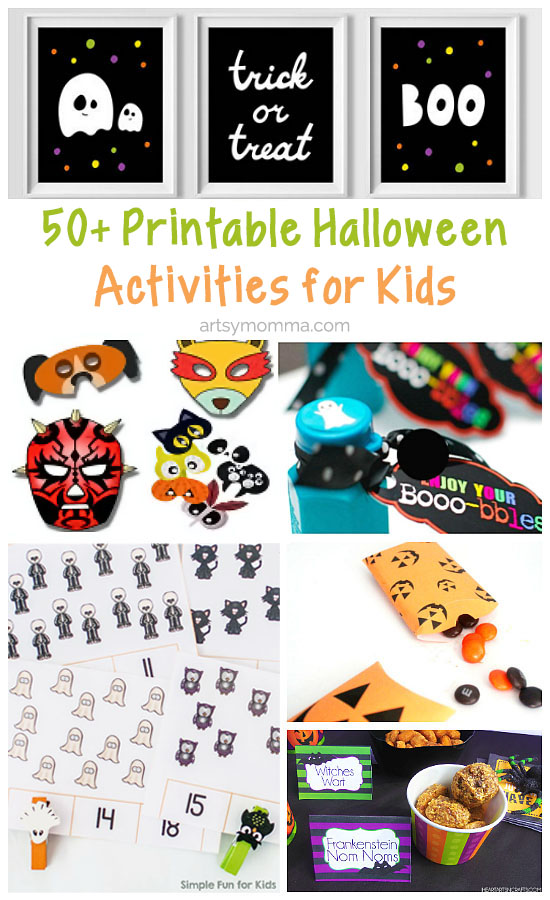 50+ Printable Halloween Activities for Kids from learning activities to creative crafts!