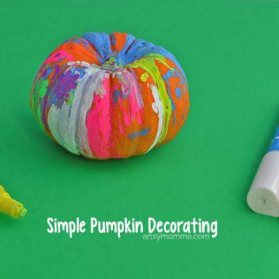 Simple Pumpkin Decorating Idea Using Fun Chalk Markers