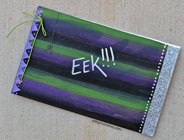 Ink Pad Blending - Craft Idea for Halloween