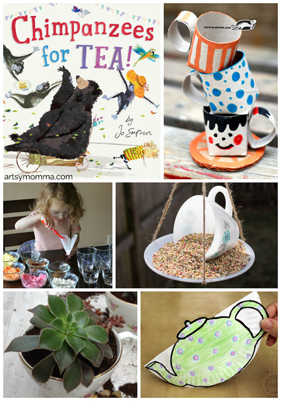 Chimpanzees for Tea - 20+ Tea Party Crafts and Activities for Kids