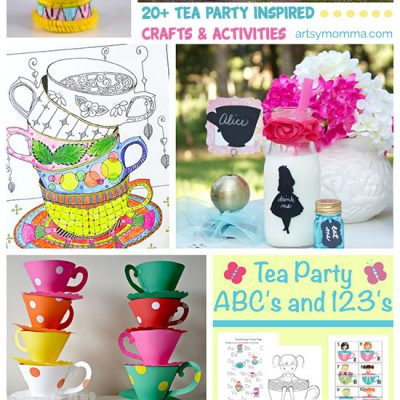 20+ Tea Party Crafts + Chimpanzees for Tea Review