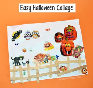 Easy Halloween Collage Art for Preschoolers