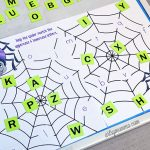 Preschool Alphabet Matching Printable - Spider Theme