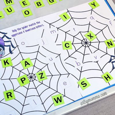 Printable Spider Web Letter Match Activity