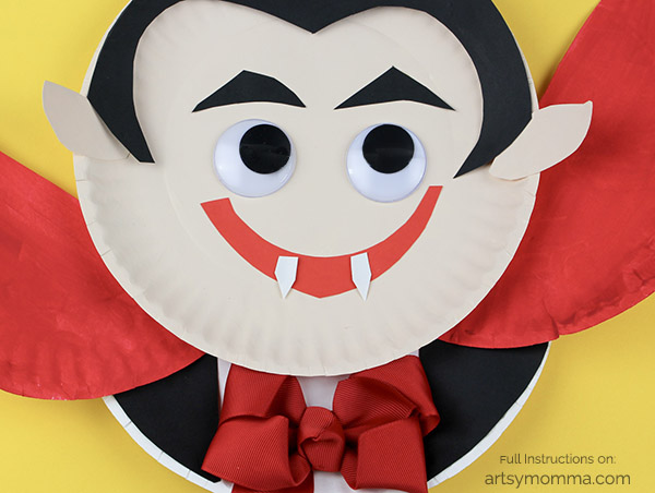 Darling Paper Plate Vampire Craft for Kids