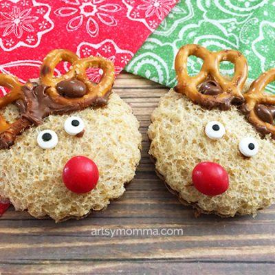 Crafty Nutella Reindeer Sandwich Tutorial