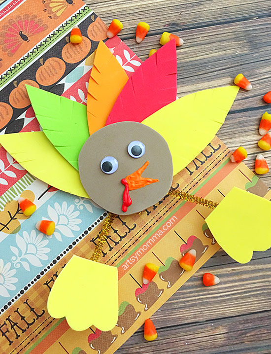 Easy Thanksgiving Foam Turkey Craft to Make With Kids