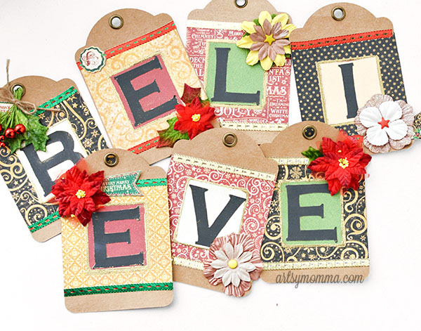 'Believe' Christmas Banner Craft inspired by The Polar Express