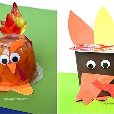 Crafty Turkey Snack Cups for Kids