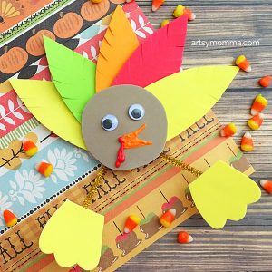Mess-free Foam Thanksgiving Turkey Craft Idea for Kids