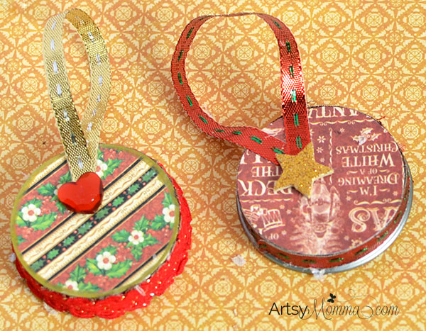 Recycled Baby Food Jar Christmas Ornament Craft Ideas