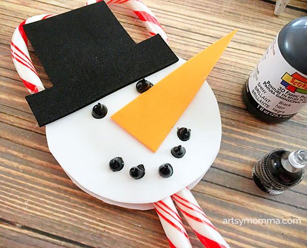 Candy Cane Snowman Holder Craft & Ornament Tutorial
