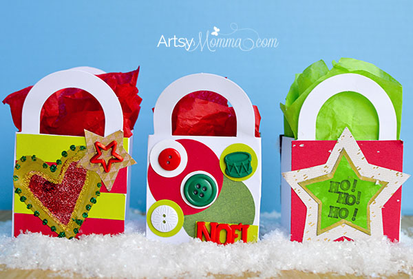 Simple Christmas Party Favor Bags for Kids to Make