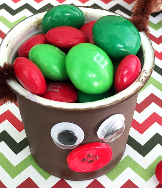 Fill K Cup Rudolph With M&M's or other small candies