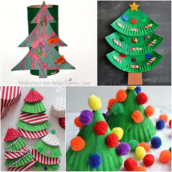 HUGE List of Christmas Tree Projects to Make with Kids