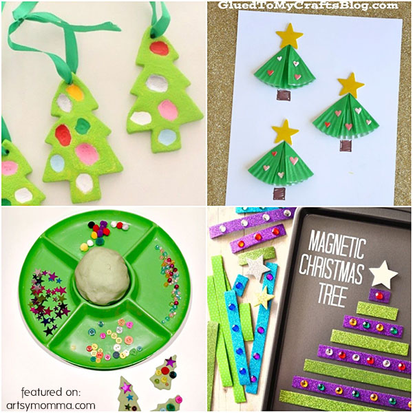 Crafty Christmas Trees to make with kids!