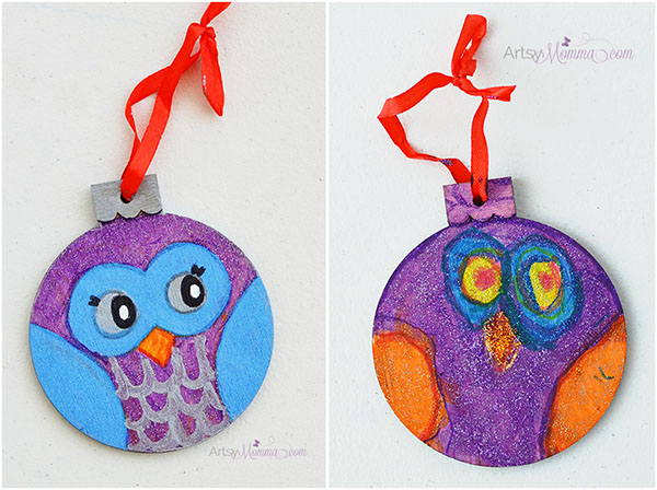 Handmade Owl Ornaments - Kids Christmas Craft