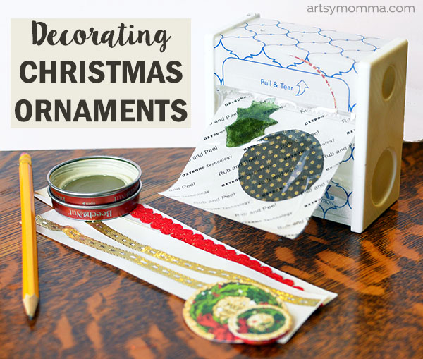 DIY Christmas Sticker Embellishments