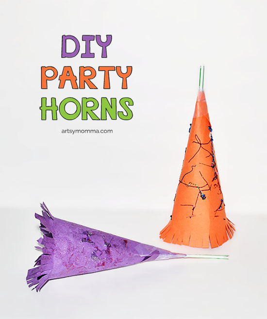 Kids Party Horn Noisemaker Craft Idea