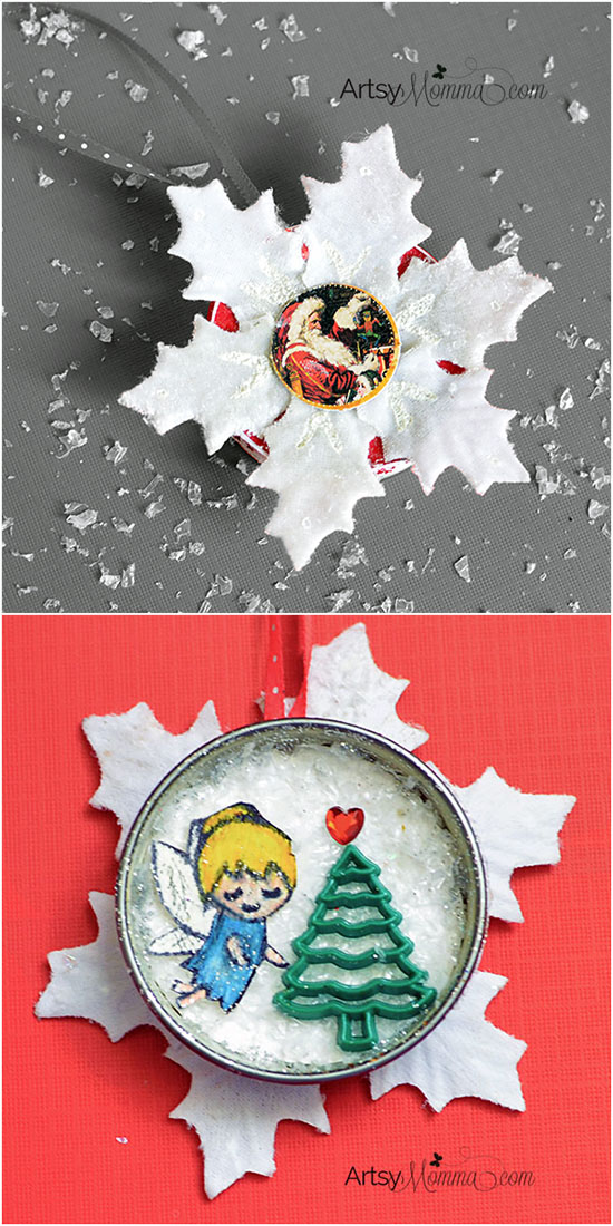Snowflake Christmas Fairy & Santa Ornament Craft Ideas