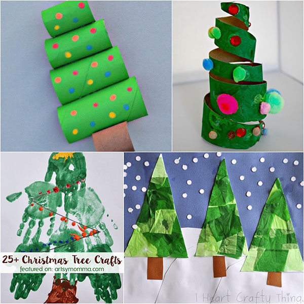 25+ Ways to make Christmas Tree Projects that are easy & fun!