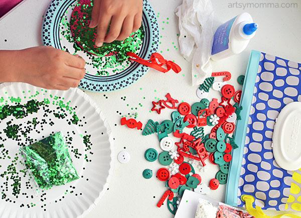 Decorating Kids Christmas Embellishments and Craft Kits