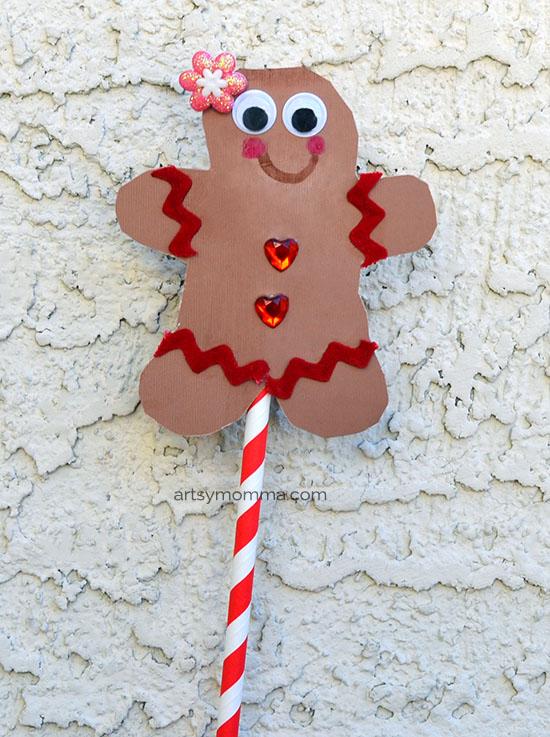 Book-inspired Gingerbread Girl Puppet Craft